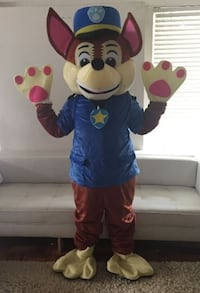 PAW PATROL CHASE MASCOT COSTUME FOR BIRTHDAY PARTIES  Los Angeles, 91304