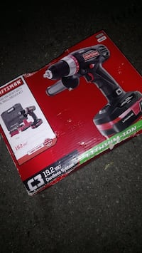 black and red Craftsman cordless hand drill box
