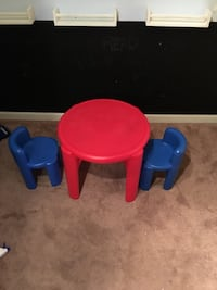 toddler's red and blue plastic table Stafford, 22554