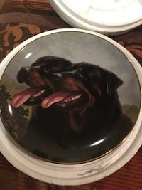 Rottweiler Decorative plates with hanger. 270 mi