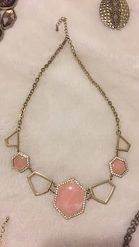 Gold and pink necklace  Toronto, M1P 5C4