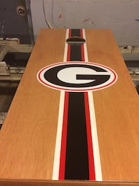 brown white black and red rectangular table Rockmart, 30153
