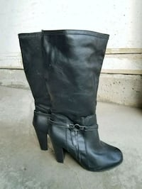 Knee high heel boots winter women size 9 Brampton