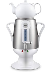 white and gray Sinbo electric kettle 547 km