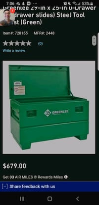 Greenlee tool chest like new