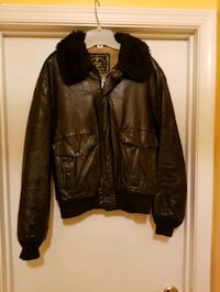 Vintage! Mens Bomber Jacket (Size 46) with fake fur collar  Milford Mill, 21244