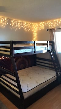 Twin Over Double Bunk Bed with Mattresses Huntington Beach, 92646