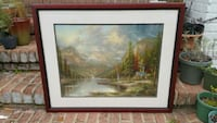 Thomas Kinkade Mountain Majesty A/P-1 Lithograph Alexandria, 22312