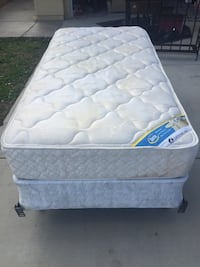 Twin Serra Mattress, Box Spring, and Metal Frame