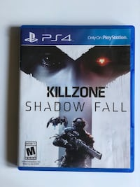 Killzone shadow fall ps4 game case Las Vegas, 89148