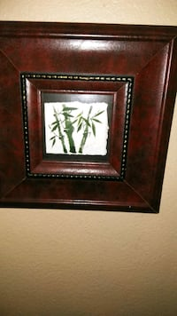 framed painting of green bamboo grass 751 mi