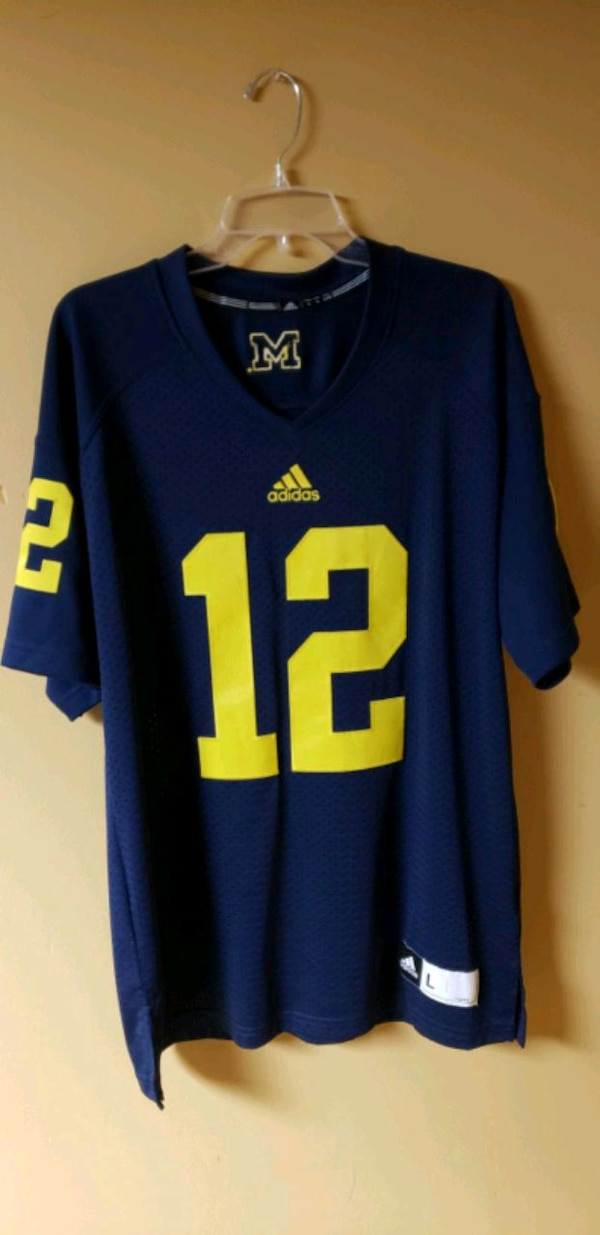 the best attitude 71f29 bc2a7 Michigan Wolverines Football Jersey Adidas