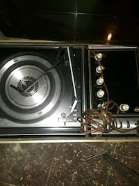 Old record player with radio