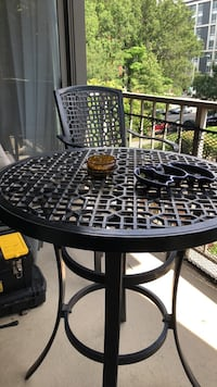 round black metal patio table with four chairs Washington, 20024