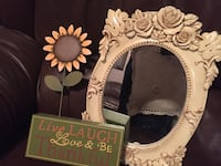 Small mirror and Sunflower sign