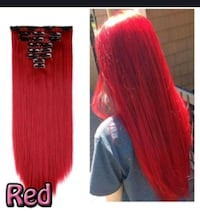 Red hair extention. Never worn.  London, N5Y 4V7
