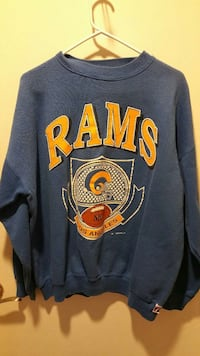 blue and yellow RAMS NFL print crew-neck sweater Apple Valley, 92307