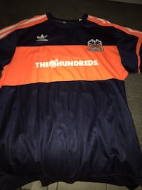 Blue and orange the hundreds/adidads jersey. Xl