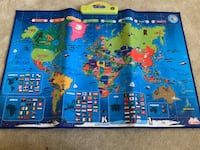 My world interactive map-educational talking toy