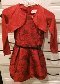 Children's Place/Size 6 Red Dress w/Cardigan