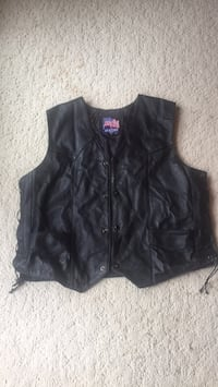 Leather Motorcycle Vest Linganore, 21774