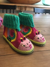 toddler's pair of pink and green shoes Langley