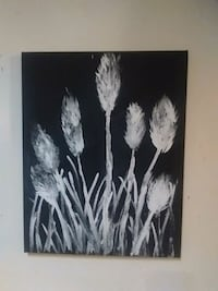 black and white abstract painting 488 mi