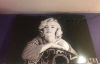 Marilyn Monroe grayscale poster