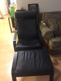 Black leather padded glider chair Burtonsville