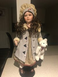 brown haired female porcelain doll Richmond Hill, L4C 5L3