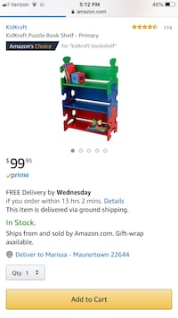 Blue and green plastic toy organizer screenshot Toms Brook, 22660