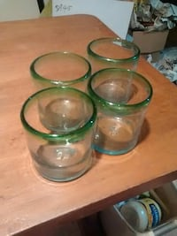 Set of four hand-blown old-fashioned glasses $25 Fairfax, 22032