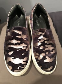 J Slides New York women's camo slip on