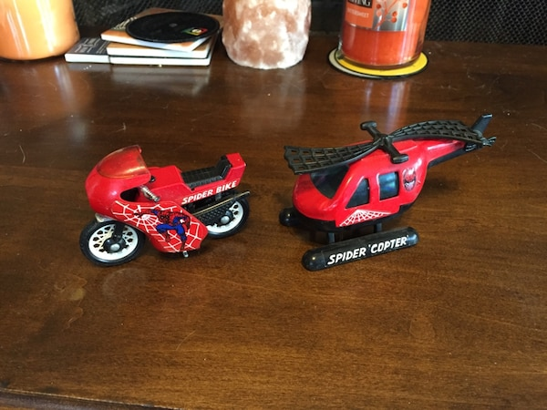 Used Spiderman Bike and Helicopter Vintage Toys 1980 in West ...