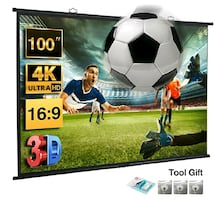 100-inch HD Movie Projection Screen for Home Theater