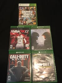 Xbox One games $10 each Vacaville, 95687