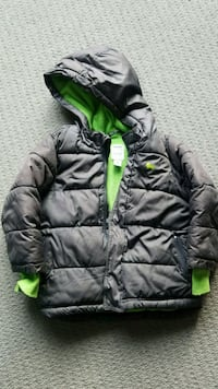 black and green bubble jacket 3145 km
