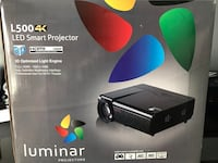 4K,3D Projector with screen. New!!
