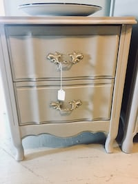 French Provincial gray night stand  Kensington, 20895