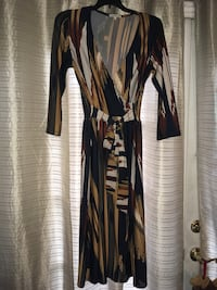 women's black and white long-sleeved dress Los Angeles, 91406