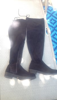 Revamped size 8 suede thigh high boots Mississauga, L5J 3N6
