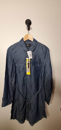 Women`s denim dress Size S Condition New