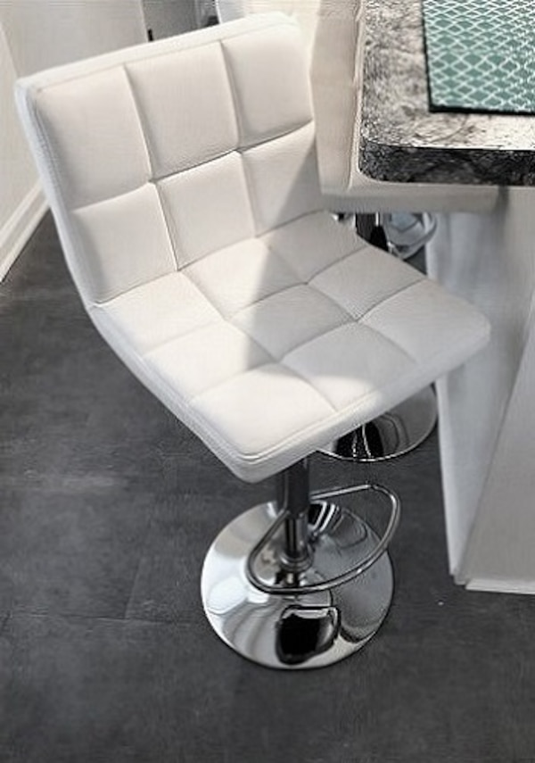 Terrific New 35 Each Barstool Contemporary Chair Swivel Bar Stool Adjustable Height White Machost Co Dining Chair Design Ideas Machostcouk