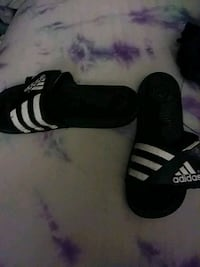 pair of black-and-white Adidas sneakers Hartland, 53029