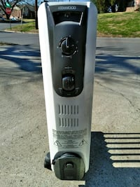 black and white Kenwood oil heater