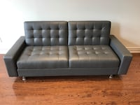 Brand new grey modern faux leather sofa bed warehouse sale