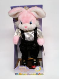 NEW McCrory 2000 Pink Animated Singing Dancing Easter Bunny 'Here Comes Peter Cottontail' In box! Parkville