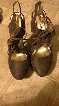 pair of brown leather mary jane shoes Ann Arbor, 48109