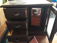 Beauty supplies - jewellery box and make up box and more