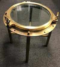 Round porthole solid brass glass-top coffee table Fresno, 93722